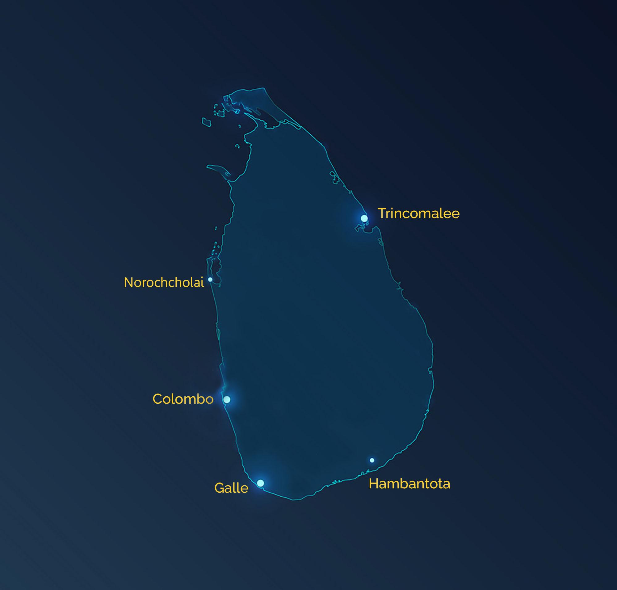 srilanka map